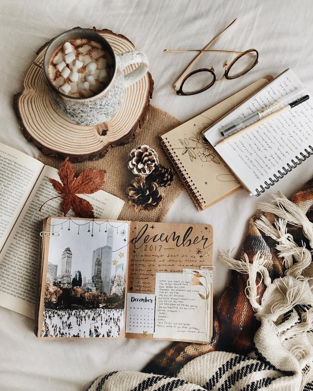 Inspiration pour un journal d'art »Sweet Horizon   – flatlay