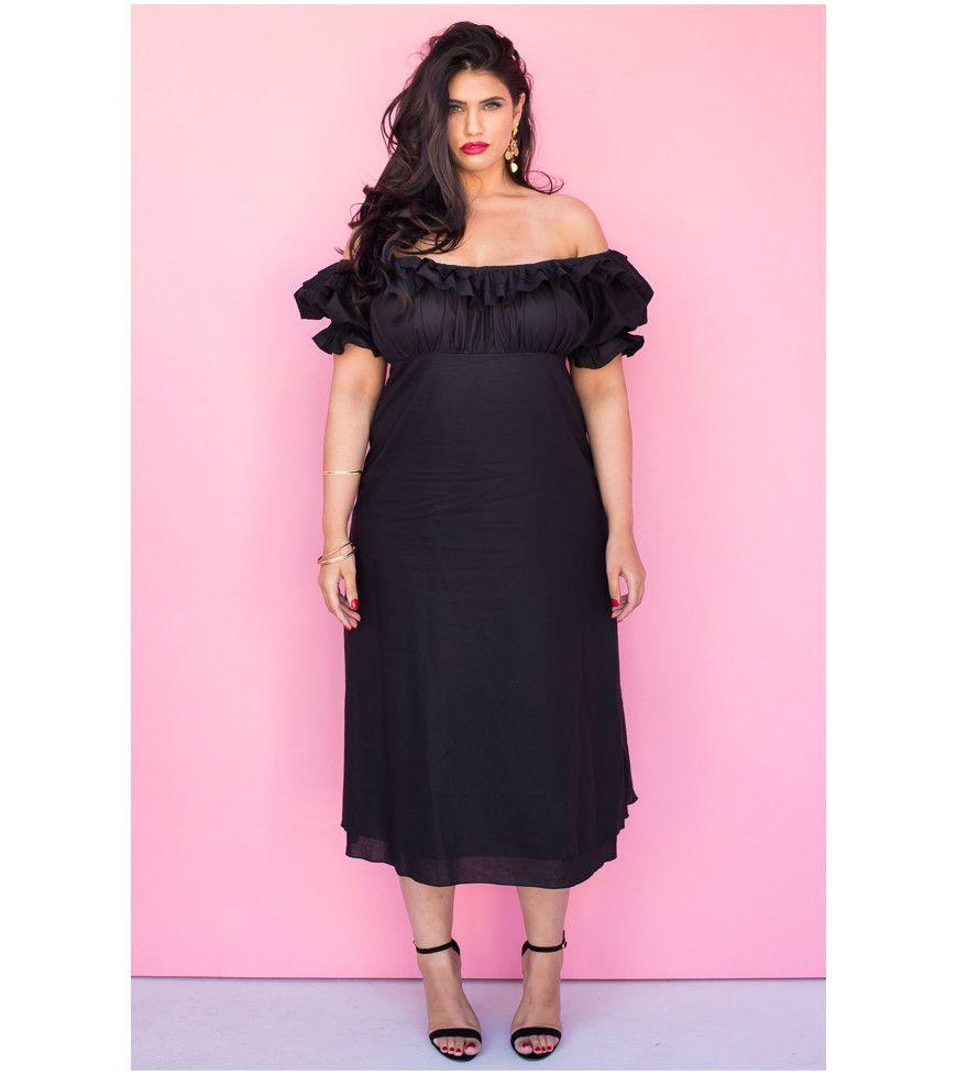 3456b7c6bbae Black Off The Shoulder Cotton Dress - Lala Belle The Label Women s ...