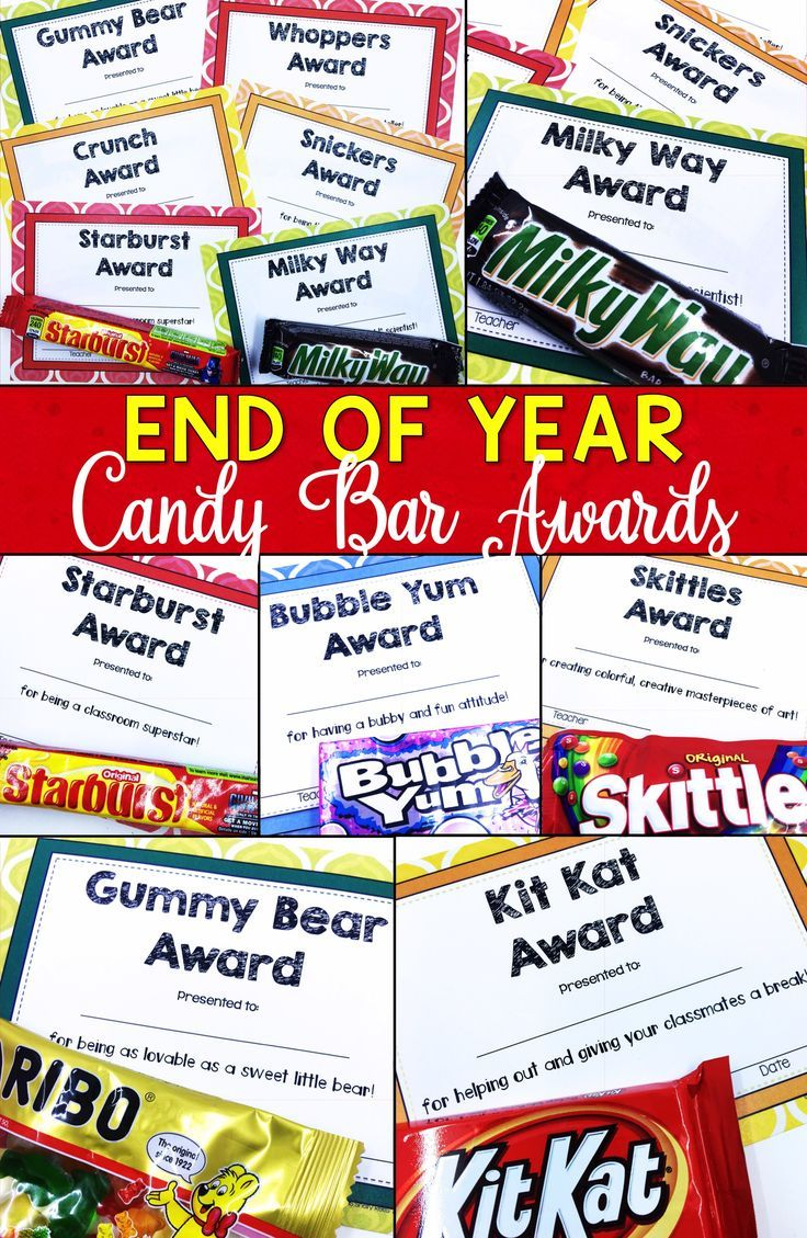 photograph relating to Printable End of the Year Awards for Students named Conclude of Calendar year Awards Sweet Bar Awards Certificates EDITABLE