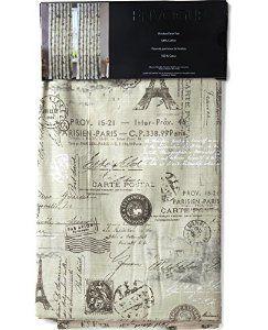 Robot Check Vintage Curtains Parisian Theme French Vintage