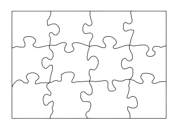Blank puzzle template! The possibilities are endless. Symmetry ...