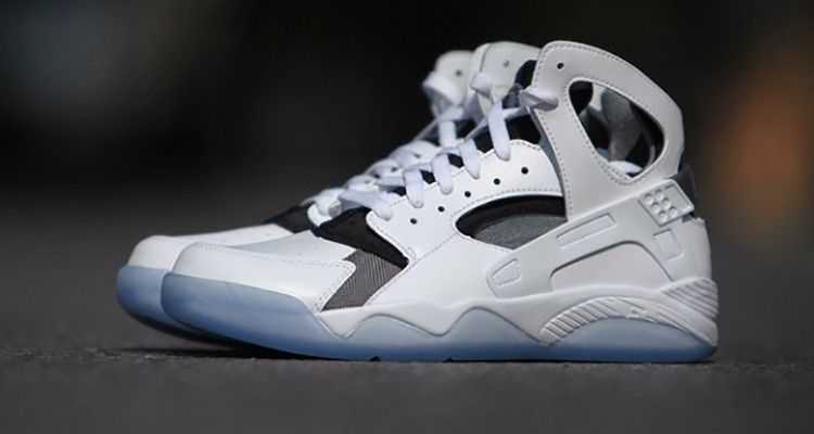 uk availability cac26 a6c36 Stacked High  Nike Air Flight Huarache White Black Ice This one s very ice-