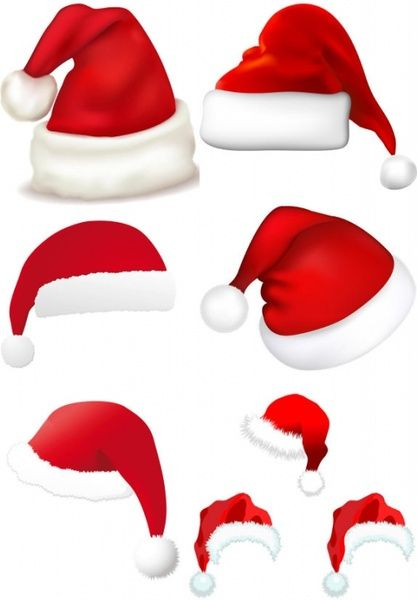 christmas hats vector santa hat pinterest christmas hat rh pinterest com santa hat vector transparent santa hat vector art free