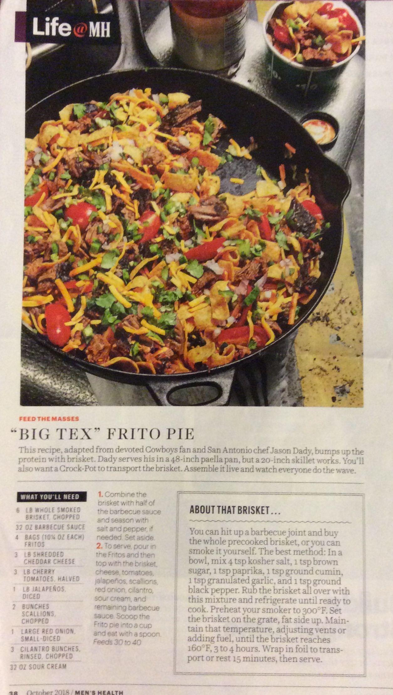 Box Tex frito pie | Pies in 2019 | Frito pie, Ethnic recipes, Paella