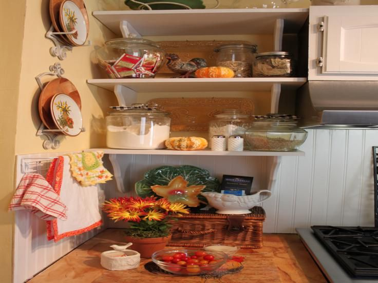 cocina estantes adornos otoño Interiores para cocina Pinterest