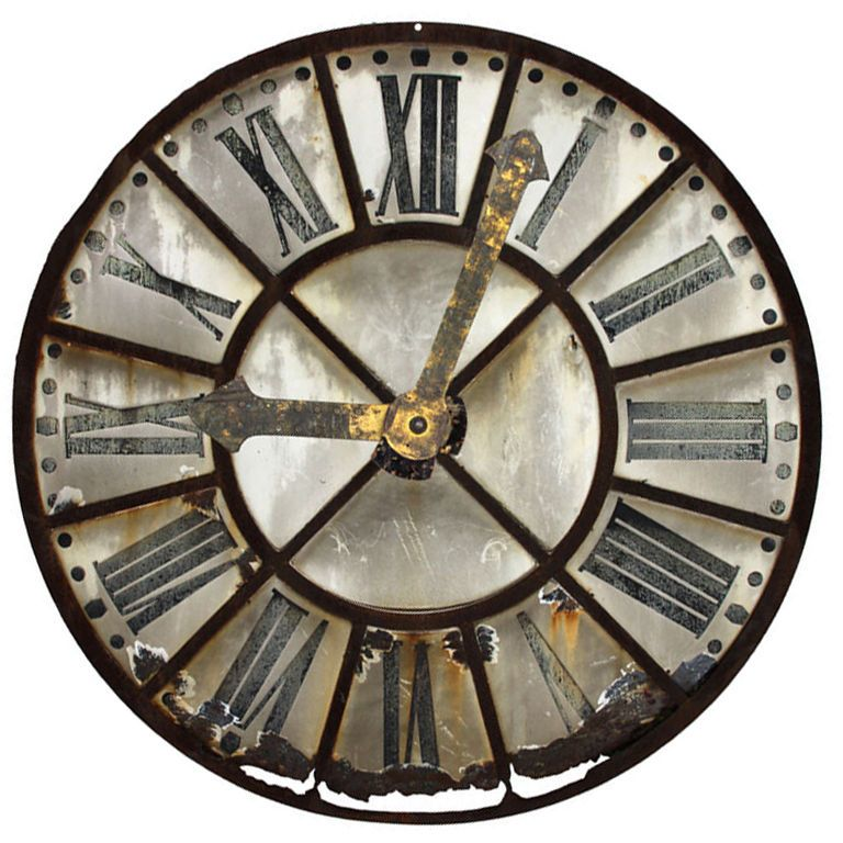 French tower clock face clock faces modern wall clocks for Giant modern wall clock