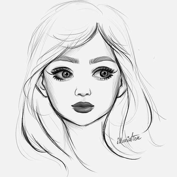10+ Best For Simple Girl Face Drawing Easy