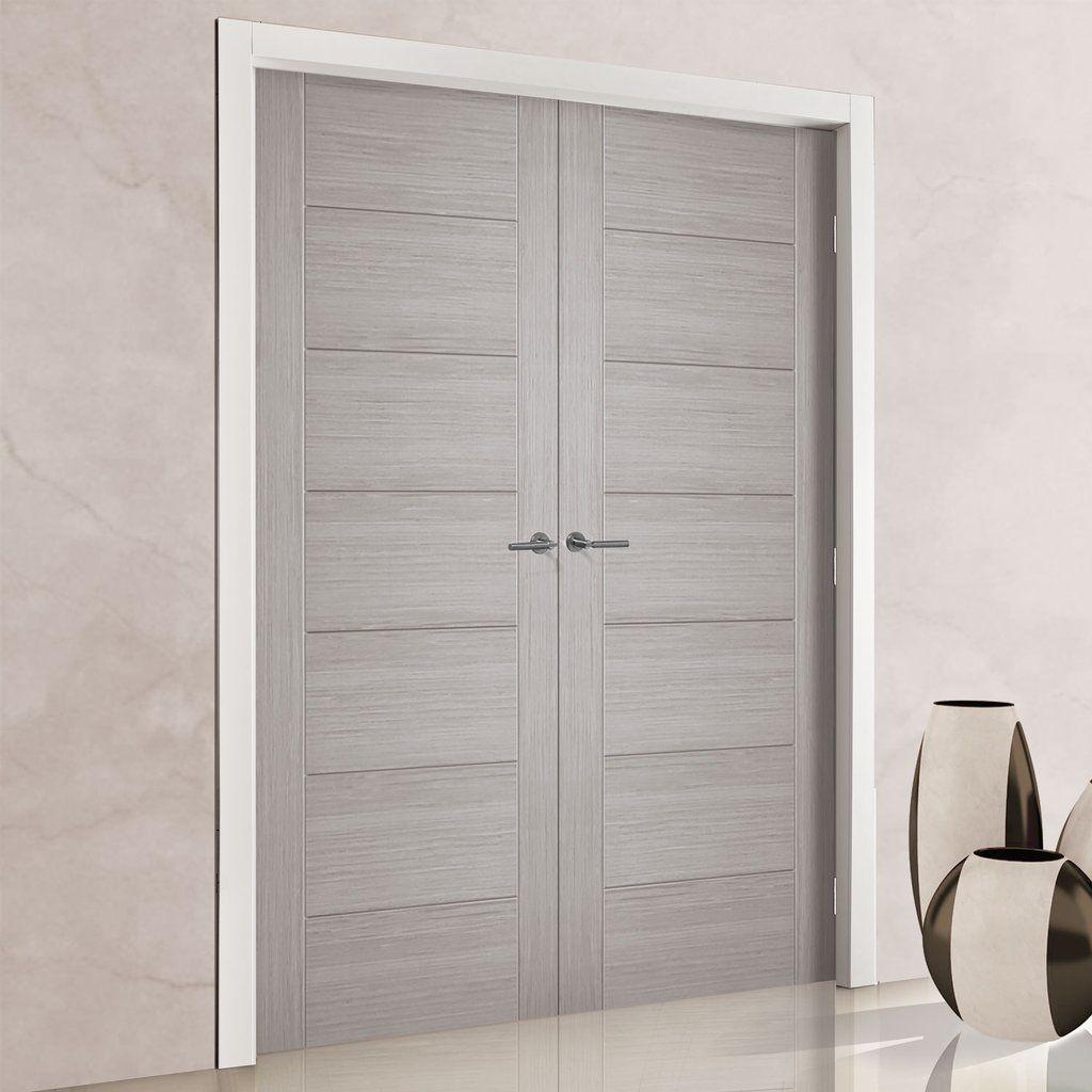 hampshire light grey internal door pair prefinished. Black Bedroom Furniture Sets. Home Design Ideas