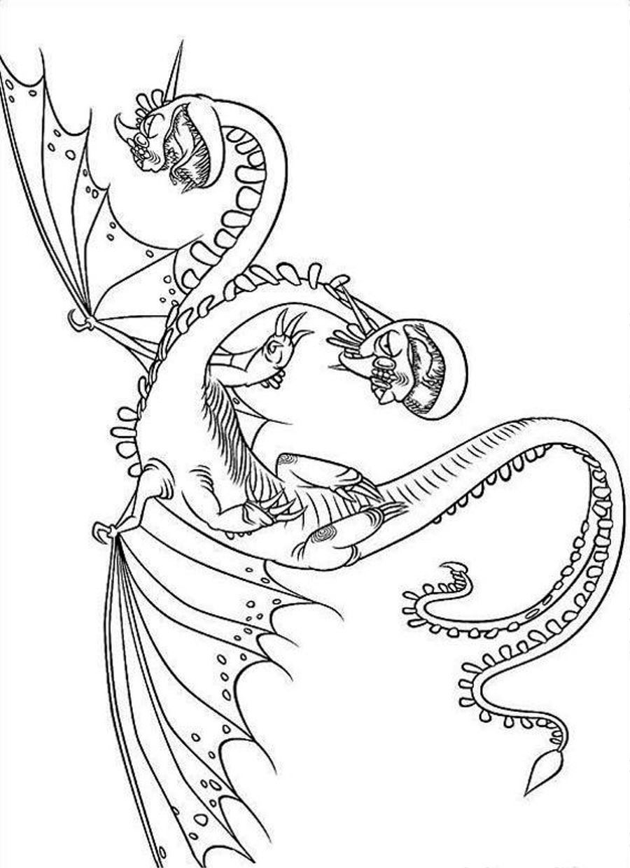 How To Train Your Twin Heads Dragon Coloring Page Photos Cartoon
