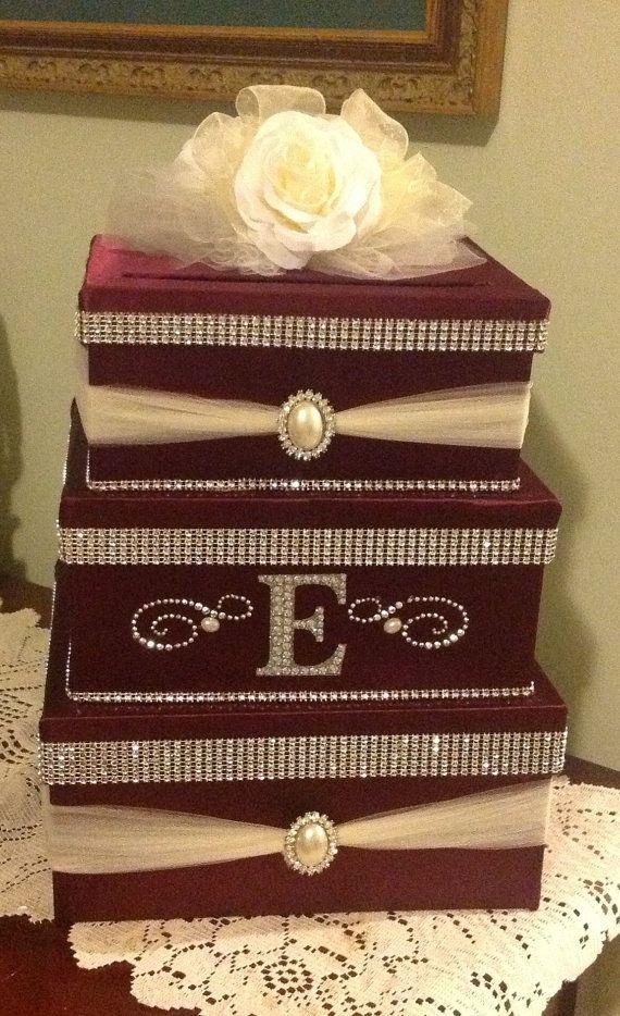 Wedding card box, card box, secure card box, locking card