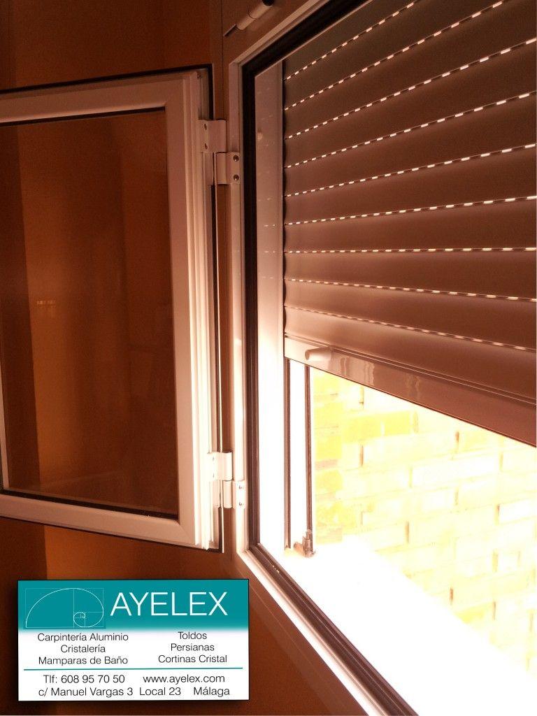 Instalaci n ventanas abatibles aluminio con persiana alumi for Ventanas de aluminio con cortina