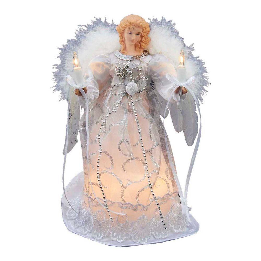 Kurt Adler 9-in. Angel Christmas Tree Topper, Silver | Pinterest ...
