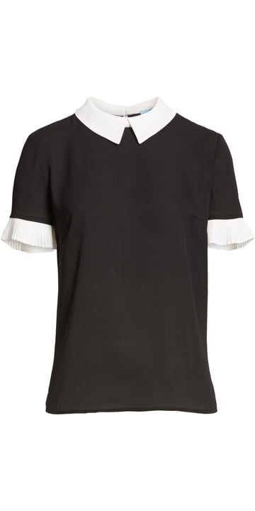 dcb9ab31 CeCe Pleat Sleeve Collared Crepe Blouse | Nordstrom | Teacher Style ...