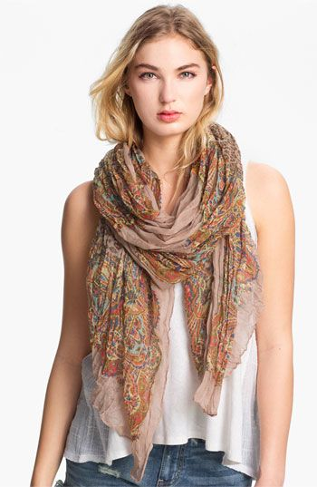 6cd967343d4 Roffe Accessories Crinkled Paisley Scarf available at Nordstrom... LOVE the  tone and print  3