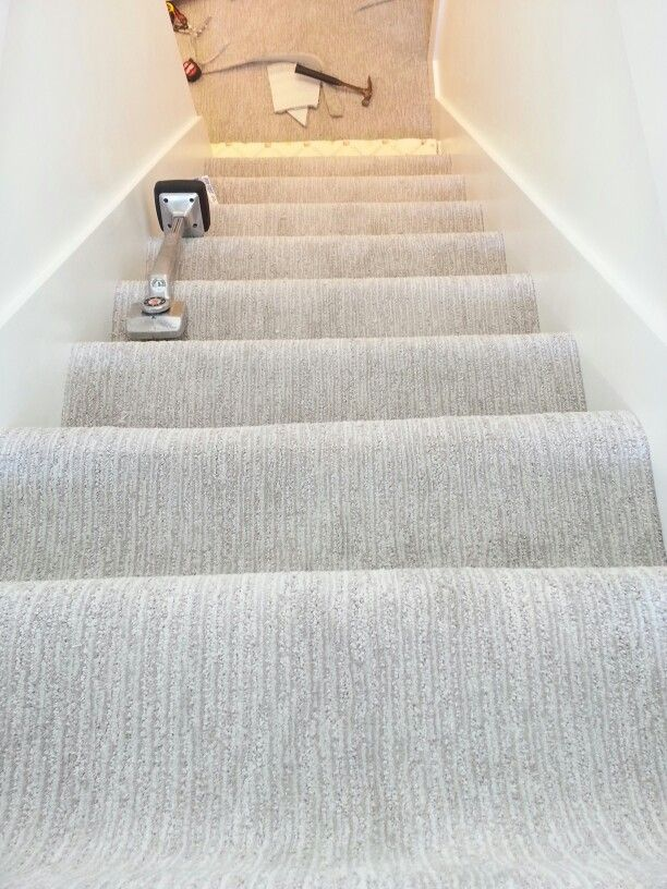Grey Carpet On #basement Stairs