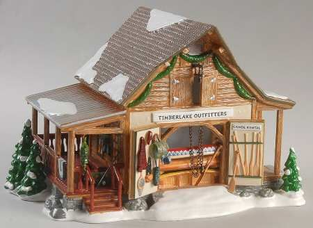 Department 56 Snow Village Timberlake Outfitters - With Box Bx803