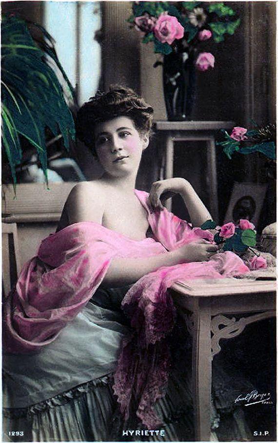 Hyriette - 19th Century Classic French Postcard Portrait - Restored ...
