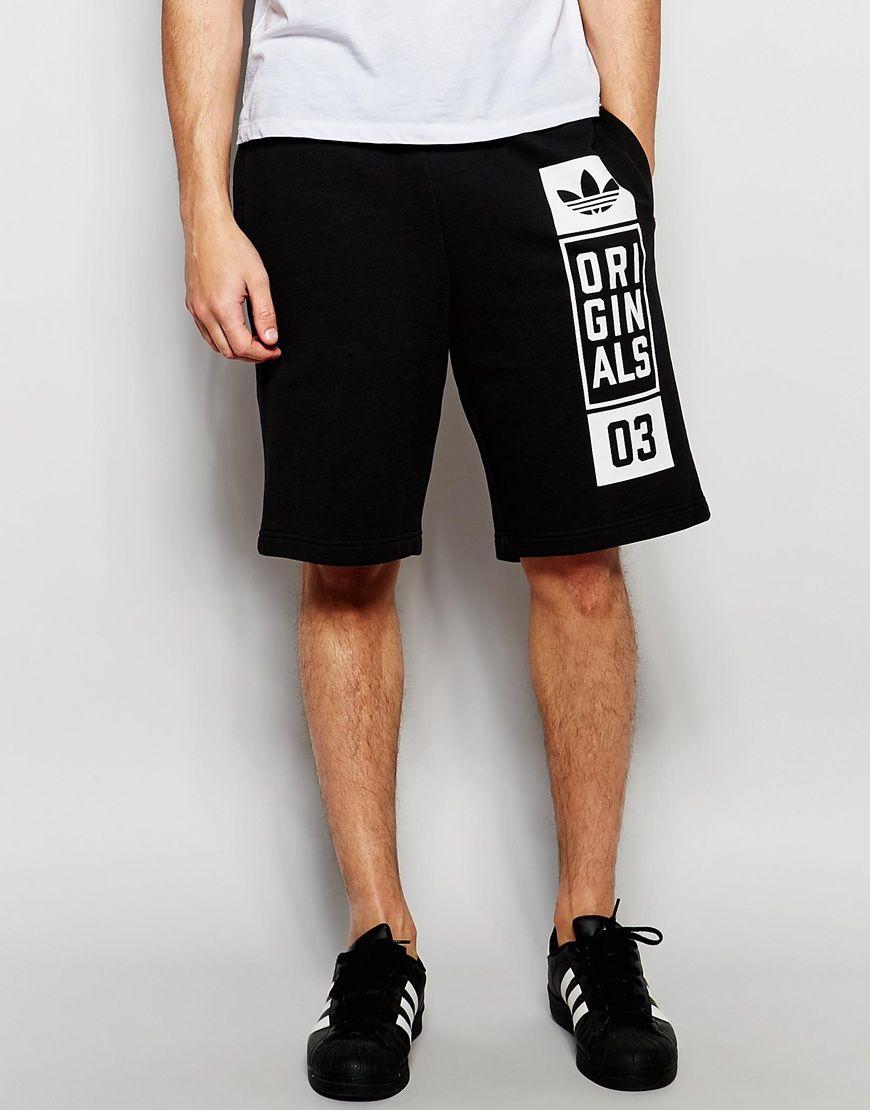 Image 1 of adidas Originals Sweat Shorts With Street Graphic AJ7634 ... 2d5126d9a8e