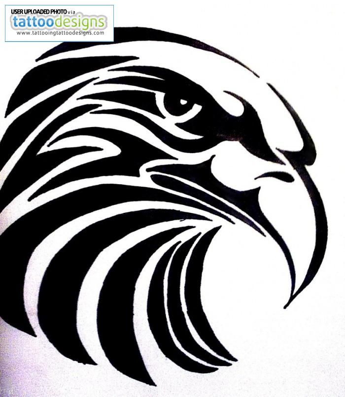 Tribal Eagle Tattoo Design | tribales | Pinterest | Tribal eagle ...