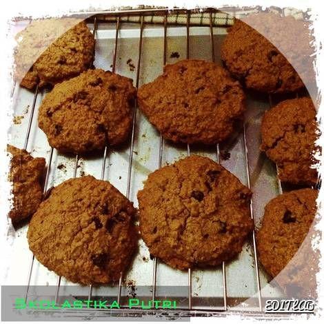 Resep Chocolate Chip Cookies Chewy Oleh Skolastika Putri Resep Kue Coklat Chip Keping Coklat Cokelat