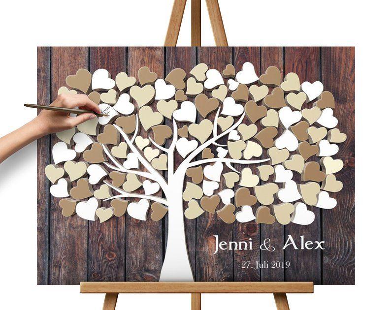 Wedding Tree Stretched Canvas Print Personalised Wedding