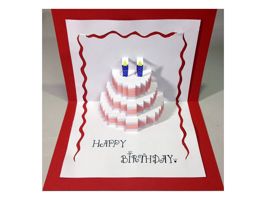 Make A Pop Up Card For Your Special Person By Yourself Download This Template For Free H Birthday Card Design Birthday Card Pop Up Pop Up Card Templates