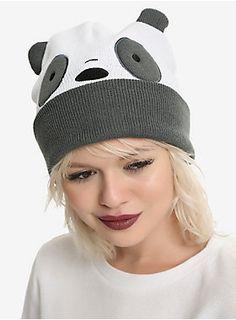 2ae409c16c0 Beanie Panda-monium    We Bare Bears Panda Bear Cosplay Watchman Beanie