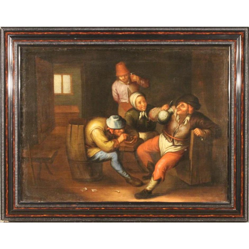 18th Century Flemish Painting Interior Scene Painting Flemish Art