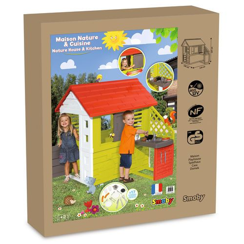 Smoby Nature Playhouse with Kitchen | Toys | Pinterest ...