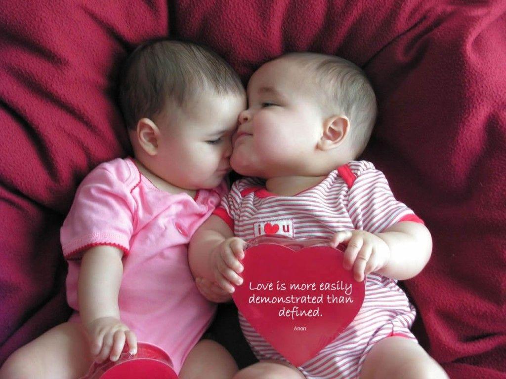Cute babies love