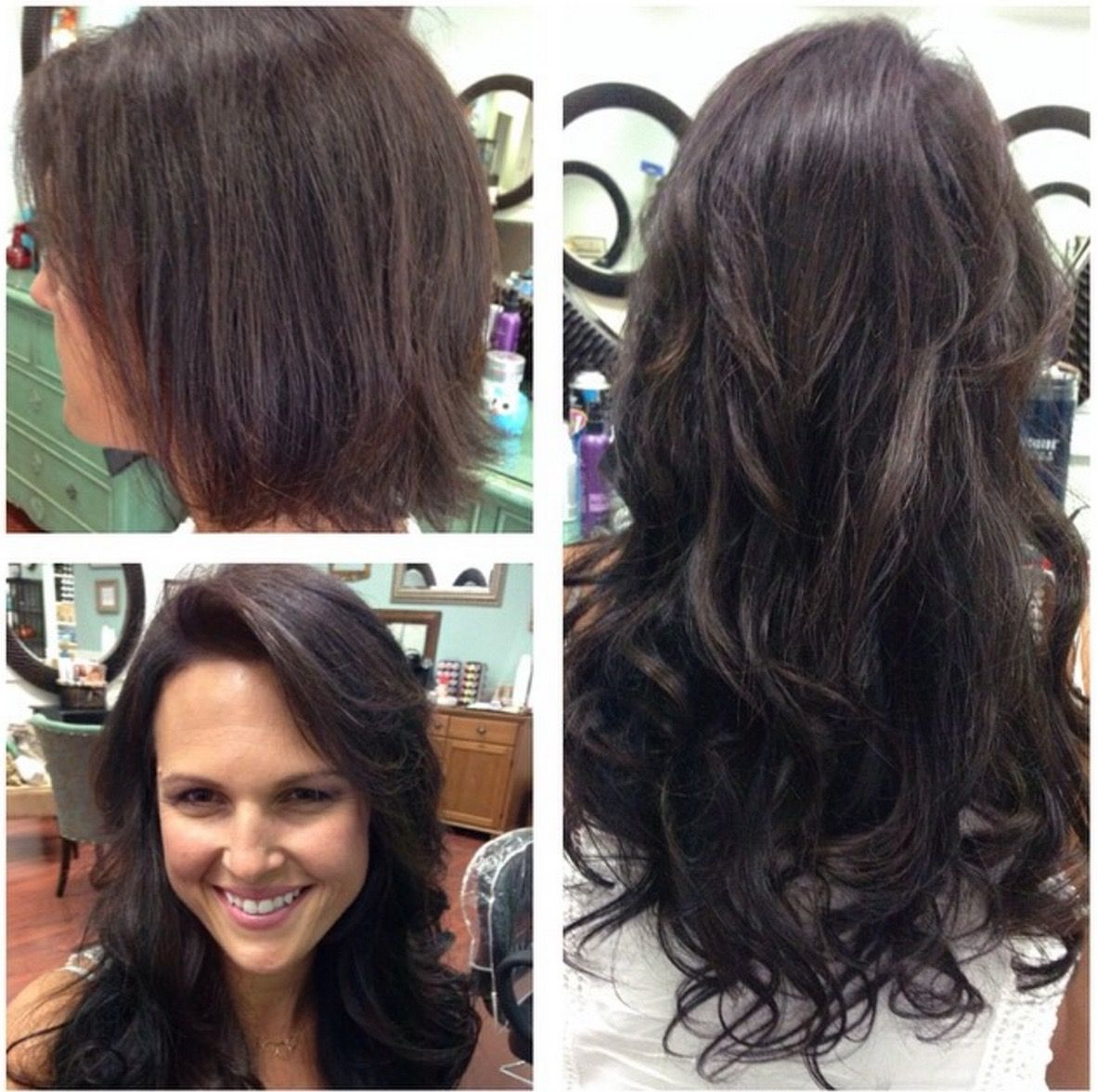 Amazing Before And After Using Glam Seamless Tape In Hair Extensions