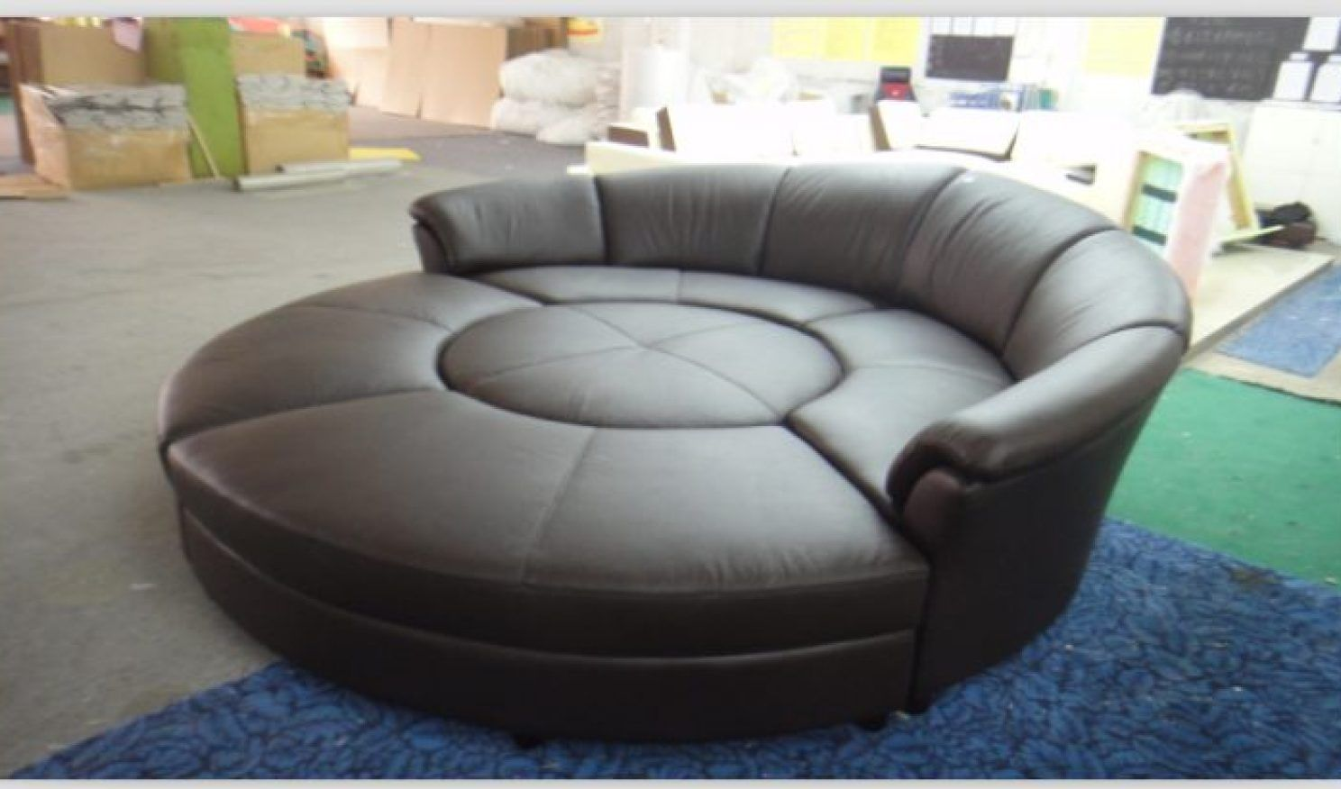 Pleasant Elegant Big Circle Chair Snuggle Sofa Round Bed Couch Swivel Machost Co Dining Chair Design Ideas Machostcouk