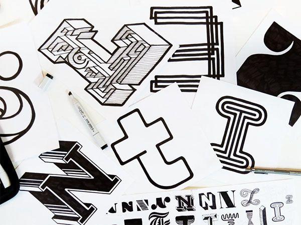 Experimental typography. Example of exhibiting typography.
