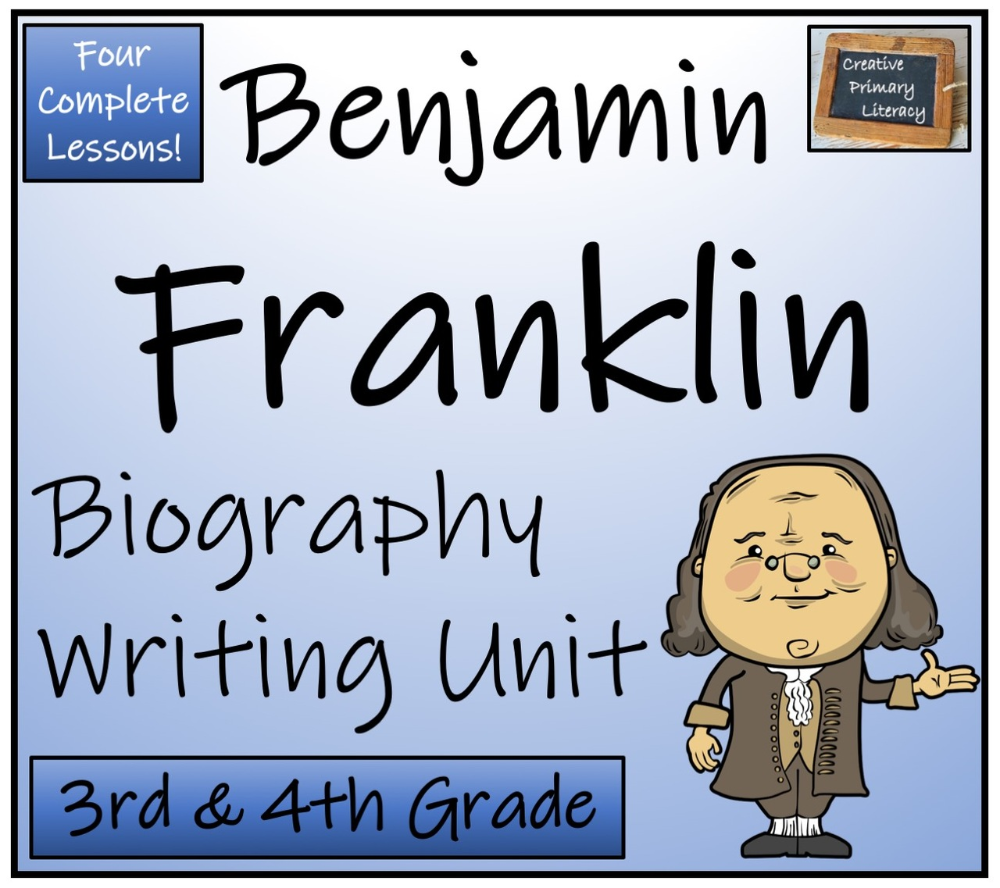 Benjamin Franklin 3rd 4th Grade Biography Writing Activity Amped Up Learning Writing Activities Writing Units Benjamin Franklin Activities [ 888 x 1000 Pixel ]