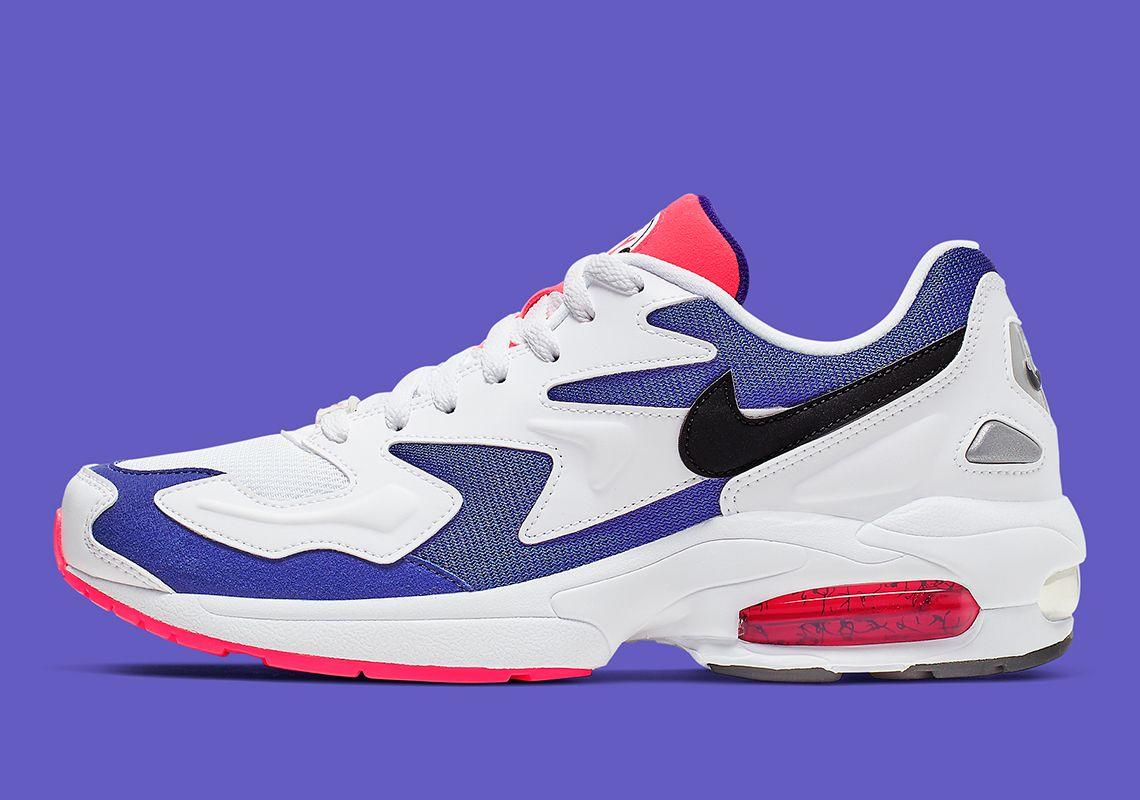 Nike Air Max 2 Light White Purple Crimson AO1741 104 Release