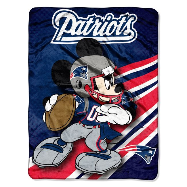 955e57d40 Buy NFL New England Patriots Disney inch Micro Raschel Throw - Disney NFL  by Soft Micro Raschel Throw. Cuddle up with Mickey Mouse and your favorite  team!
