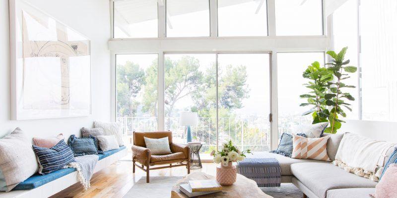 Good Luck In Creating Airy Rooms Decorholic Co Modern White Living Room Modern Living Room Inspiration Emily Henderson Living Room