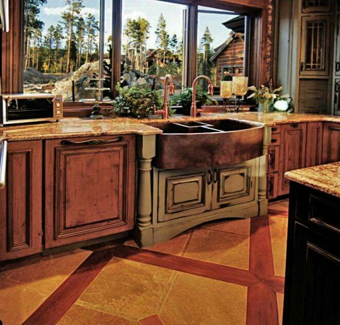 Pin by Autumn Eastman on Kitchens | Log home kitchens ...