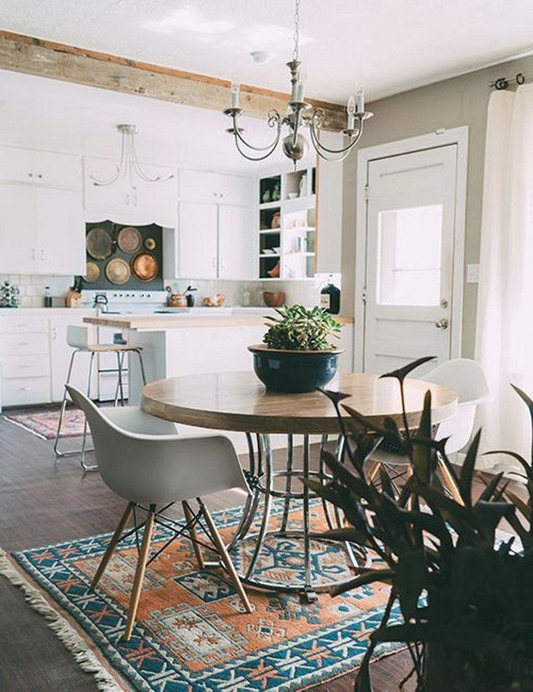 50 best modern bohemian style kitchen design ideas with images dining room small small on boho chic kitchen table id=87033