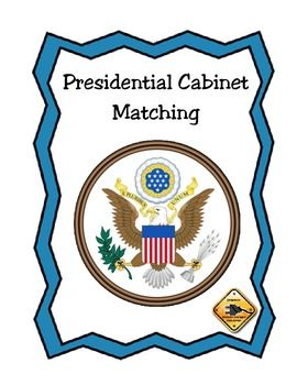 Presidential Cabinet Matching Card Game Matching Cards Card