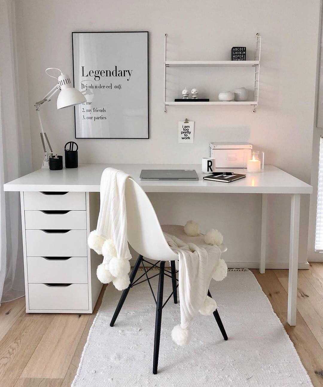 Simple And Clean Home Office Space House 1a Click The Image To