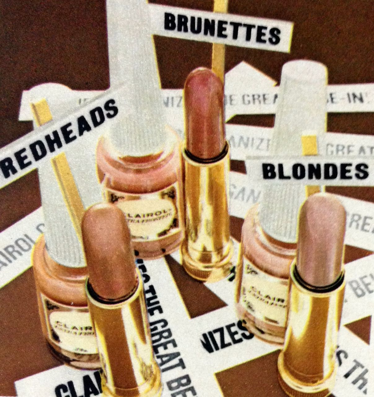 """Clairol """"The Great Beige-In!"""" Lipstick & Nail Polish, 1968"""