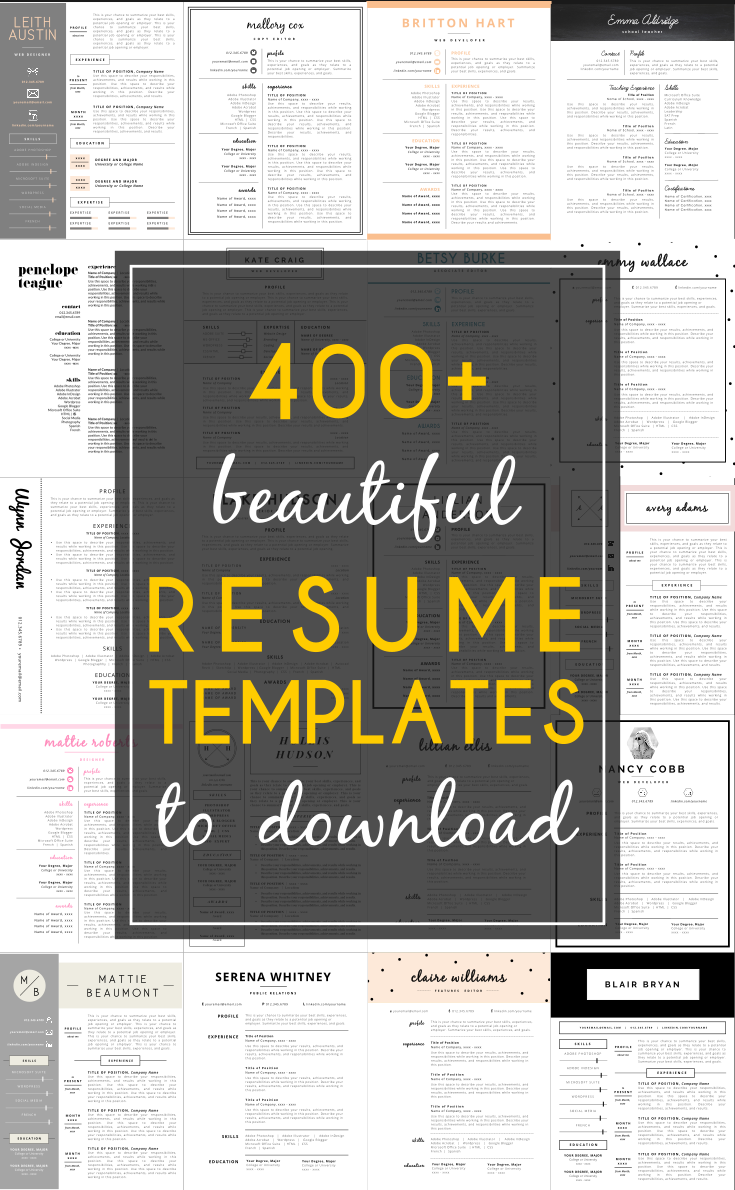 Resume Templates YouLl Want To Download Now HttpsWww
