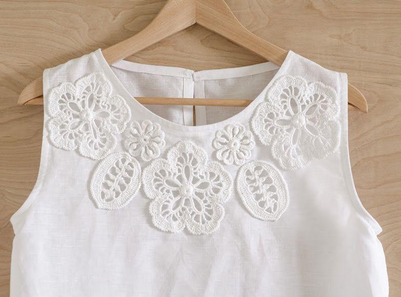 Crochet eccezionale: nuovo progetto - Camicia con Irish Crochet abbellimento.