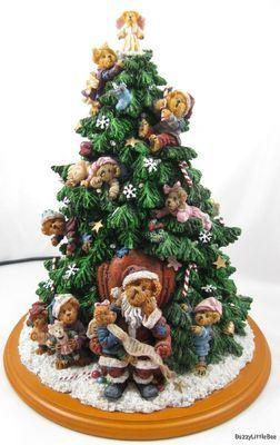 Lighted Christmas Tree 12 Danbury Mint Boyds Bears Retired Angel Topper Christmas Tree Lighting Danbury Mint Boyds Bears Christmas