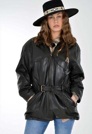 Vintage+90's+Real+Leather+Biker+Jacket