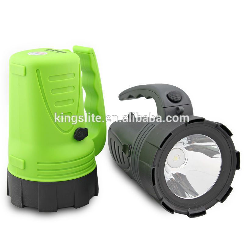 Wholessale Price Kb2161 Super Power Handheld 1w Solar Searchlight With Car Plug Charger Handheld Super Powers Searchlight