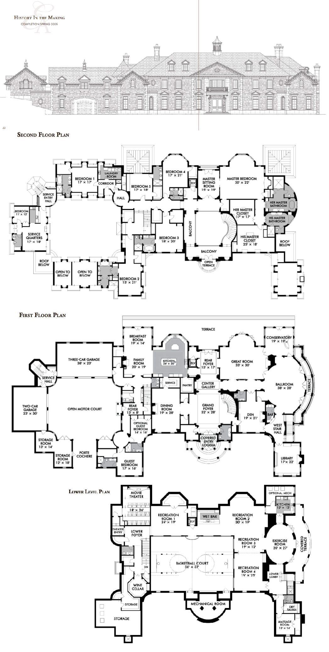 The Stone Mansion Estate In Alpine Nj Luxury House Plans Mansion Floor Plan House Plans Mansion