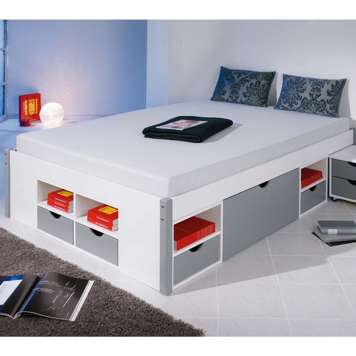 lit avec tiroir de rangement 160x200