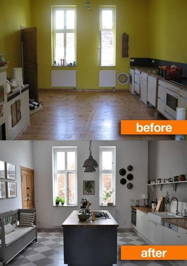 Antes y después de reforma de cocinas Before \ after Pinterest